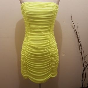 Forever 21 strapless Neon Green Dress , NWT